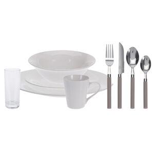 36dílná jídelní sada Simple, bílá