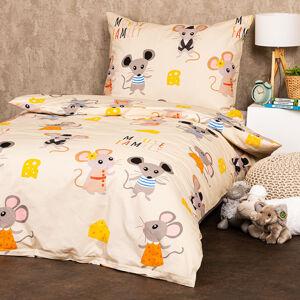 4Home Dětské bavlněné povlečení Little mouse, 140 x 200 cm, 70 x 90 cm