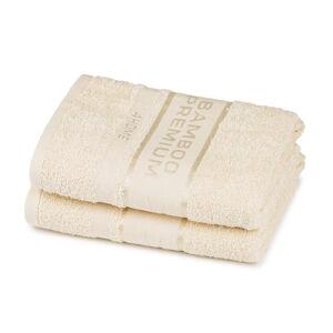 4Home Ručník Bamboo Premium krémová, 30 x 50 cm, sada 2 ks