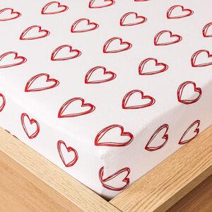 4Home jersey prostěradlo In love , 160 x 200 cm