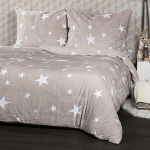 4Home povlečení mikroflanel Stars Grey, 140 x 220 cm, 70 x 90 cm