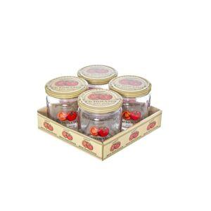 4dílná sada zavařovacích sklenic s víčkem Rajčata, 425 ml