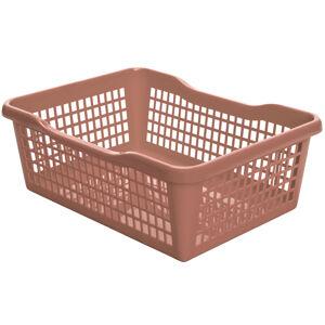 Aldo Plastový košík 24,8 x 14,7 x 7,2 cm, béžová