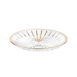 Altom Mělký skleněný talíř Venus gold, 25 cm