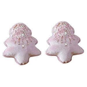 Altom Sada sametových vánočních ozdob Shiny Trees 2 ks, růžová