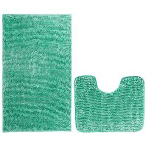 AmeliaHome Sada koupelnových předložek Bati tyrkysová, 2 ks 50 x 80 cm, 40 x 50 cm