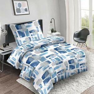 Bavlněné povlečení Abstract blue, 140 x 200 cm, 70 x 90 cm, 40 x 40 cm