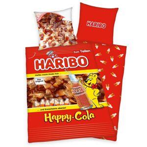 Herding Bavlněné povlečení Haribo Happy Cola, 140 x 200 cm, 70 x 90 cm
