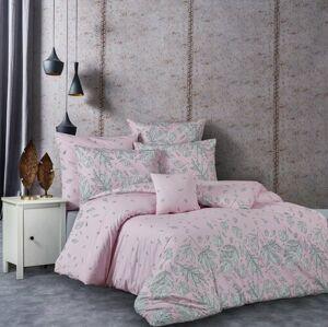 Bavlněné povlečení Hostid růžová, 220 x 200 cm, 2 ks 70 x 90 cm