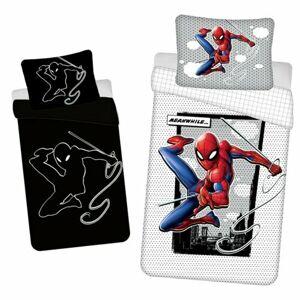 Jerry Fabrics Bavlněné povlečení Spiderman glowing 02, 140 x 200 cm, 70 x 90 cm