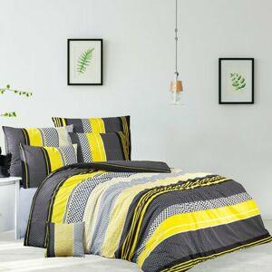 Bavlněné povlečení Zigo žlutá, 140 x 200 cm, 70 x 90 cm