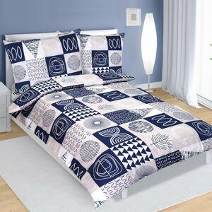 Bavlněné povlečení tmavě modrá, 140 x 220 cm, 70 x 90 cm