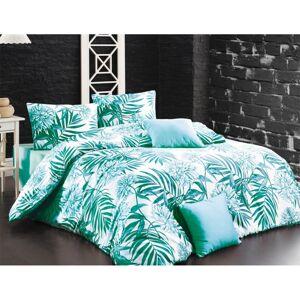 BedTex Bavlněné povlečení Amazing mořsky zelená, 220 x 200 cm, 2 ks 70 x 90 cm