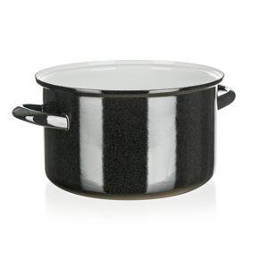 Belis Smaltovaný hrnec Standard 24 cm, černá