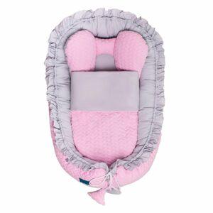 Belisima Luxusní hnízdečko pro miminko s peřinkou, šedá