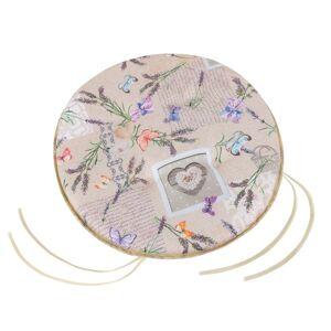 Bellatex Sedák kulatý hladký Ema Patchwork levandule, 40 cm