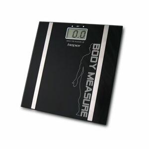 Beper Digitální osobní váha s měřením tuku a vody, černá