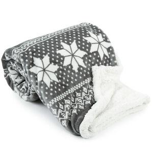 Beránková deka Winter šedá, 150 x 200 cm