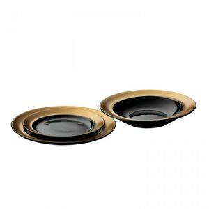 BergHOFF 3dílná sada porcelánových talířů GEM, černá
