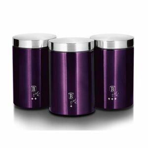 Berlinger Haus 3dílná sada dóz na potraviny Purple Metallic Line