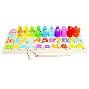Bino Dětská dřevěná edukativní hra, 47 x 7 x 21 cm