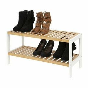 Compactor Dvoupatrový botník Akira na 8 párů bot, 70 x 26 x 33,5 cm