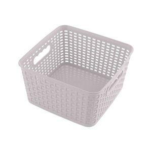 Čtvercový košík RATTAN CLASSIC 4,5 l, růžová