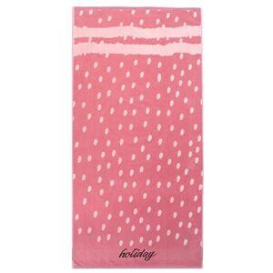 DecoKing Plážová osuška Holiday růžová, 90 x 180 cm