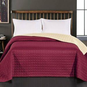 DecoKing Přehoz na postel Salice vínová, 240 x 260 cm