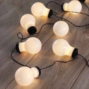 DecoKing Světelný řetěz Žárovky teplá bílá, 10 LED