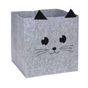 Dekorační košík Hatu Kočka, 32 x 32 x 32 cm