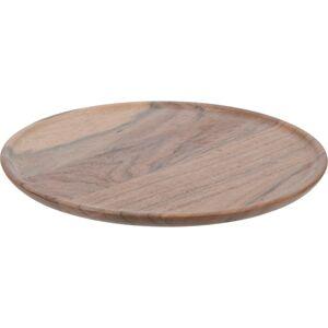 Dekorační talíř z akáciového dřeva,  22 x 1 cm