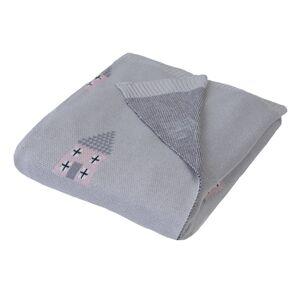 Babymatex Dětská deka Pattern šedá, 80 x 100cm