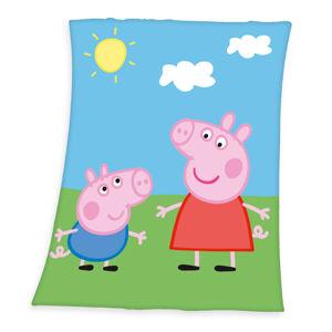 Dětská deka Prasátko Peppa, 130 x 160 cm