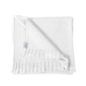 Dětská deka Tully bílá, 80 x 100 cm