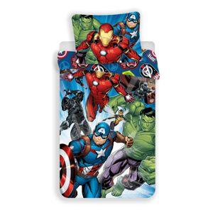 Dětské bavlněné povlečení Avengers brands, 140 x 200 cm, 70 x 90 cm