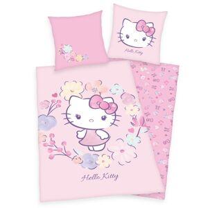 Herding Dětské bavlněné povlečení Hello Kitty, 140 x 200 cm, 70 x 90 cm