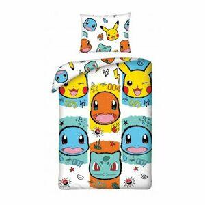 Dětské bavlněné povlečení Pokémon 277, 140 x 200 cm, 70 x 90 cm