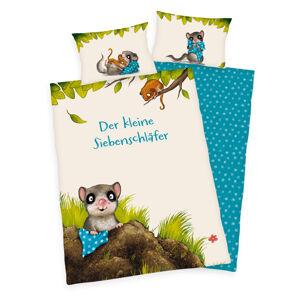 Dětské bavlněné povlečení do postýlky Das kleine Siebenschläfer, 100 x 135 cm, 40 x 60 cm