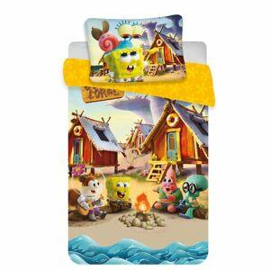 Dětské bavlněné povlečení do postýlky Sponge Bob baby, 100 x 135 cm, 40 x 60 cm