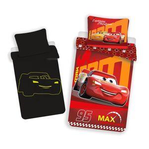 Dětské bavlněné svítící povlečení Cars red, 140 x 200 cm, 70 x 90 cm