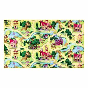 Dětský koberec Pohádková vesnice, 80 x 120 cm