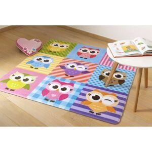 Dětský koberec Ultra Soft Sovy, 90 x 130 cm