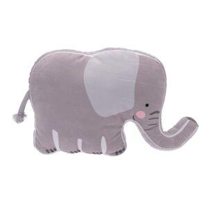 Dětský polštářek Slon, 40 x 50 x 9 cm