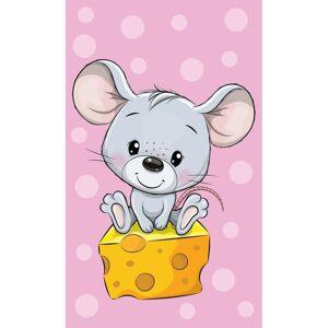 Dětský ručník Myška a ementál, 30 x 50 cm