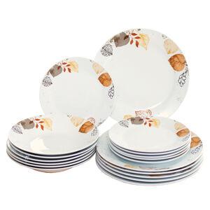 Domestic 18dílná jídelní sada Autumn