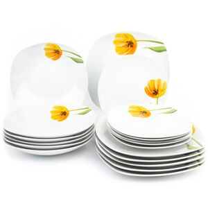 Domestic 18dílná jídelní sada Tulip