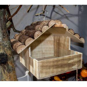 Dřevěné krmítko Kamil, 25 x 20 x 31 cm