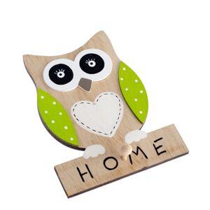 Dřevěný závěsný nápis Home, 28,5 x 10,2 x 2,6 cm