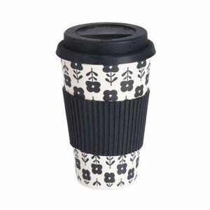 Excellent Houseware Bambusový termohrnek 425 ml, černá